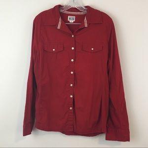 Converse Button Down Shirt Maroon Size XL